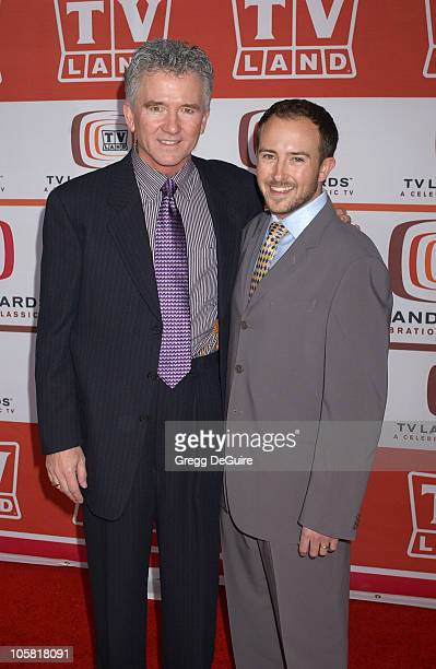 Patrick Duffy and Son during 4th Annual TV Land Awards Arrivals at Barker Hangar in Santa Monica California United States