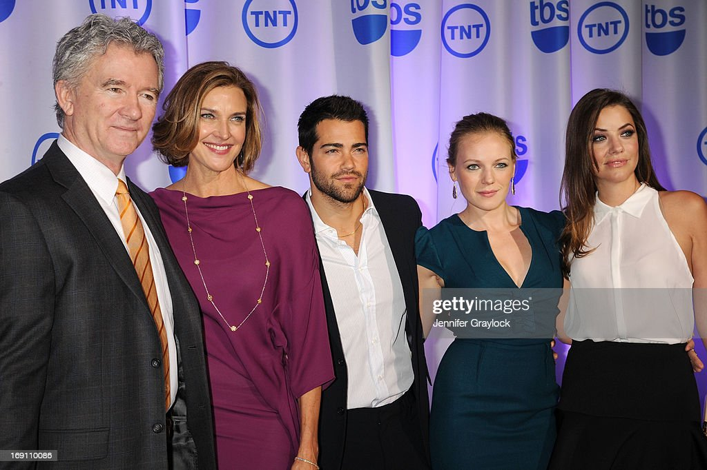 Patrick Duffy, Brenda Strong, Jesse Metcalfe, Emma Bell and Julie Gonzalo attend the 2013 TNT/TBS Upfront presentation at Hammerstein Ballroom on May 15, 2013 in New York City.