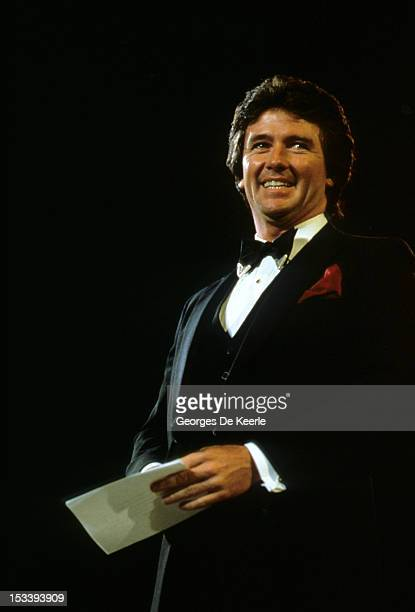 Patrick Duffy during the Fashion Aid show in aid of African famine relief UK 6th November 1985