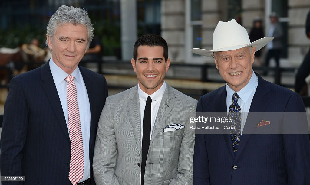 Patrick Duffy Jesse Metcalf and Larry Hagman attend the launch party of Dallas at Old Billingsgate