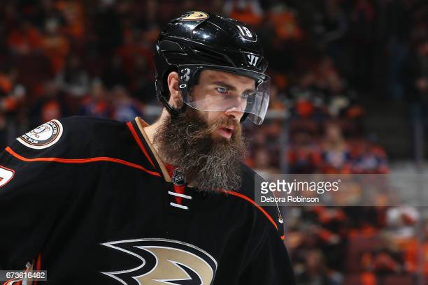 Patrick Eaves of the Anaheim Ducks skates against the Edmonton Oilers in Game One of the Western Conference Second Round during the 2017 NHL Stanley...