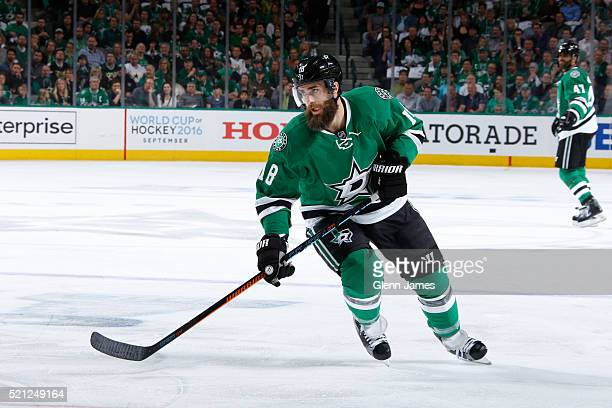 Patrick Eaves of the Dallas Stars skates against the Minnesota Wild in Game One of the Western Conference Quarterfinals during the 2016 NHL Stanley...