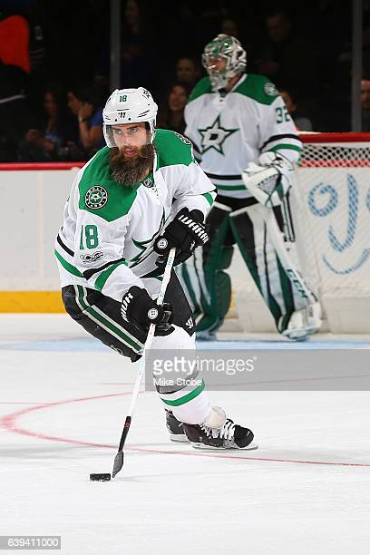 Patrick Eaves of the Dallas Stars skates against the New York Islanders at the Barclays Center on January 19 2017 in Brooklyn borough of New York...