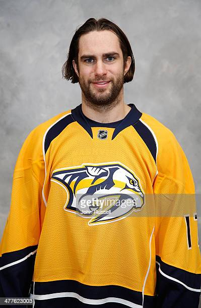 Patrick Eaves of the Nashville Predators at Bridgestone Arena on March 6 2014 in Nashville Tennessee