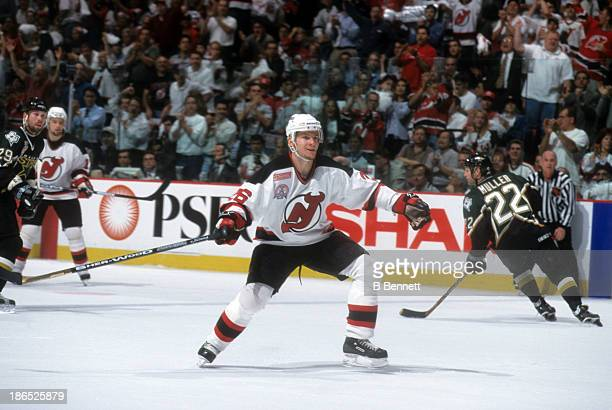 Patrick Elias of the New Jersey Devils skates on the ice during Game 2 of the 2000 Stanley Cup Finals against the Dallas Stars on June 1 2000 at the...