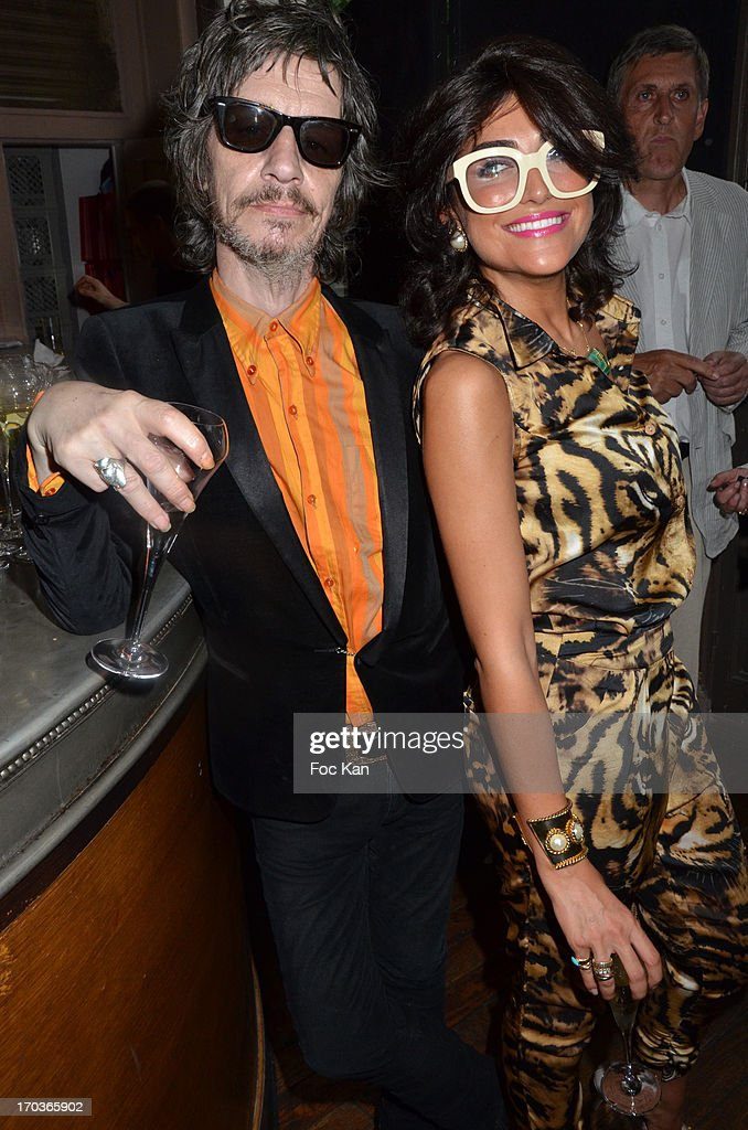 Patrick Eudeline and Ines Mercadal Olympe attend the 'Battle Rock' Party At The Trianon Theatre on June 11, 2013 in Paris, France.