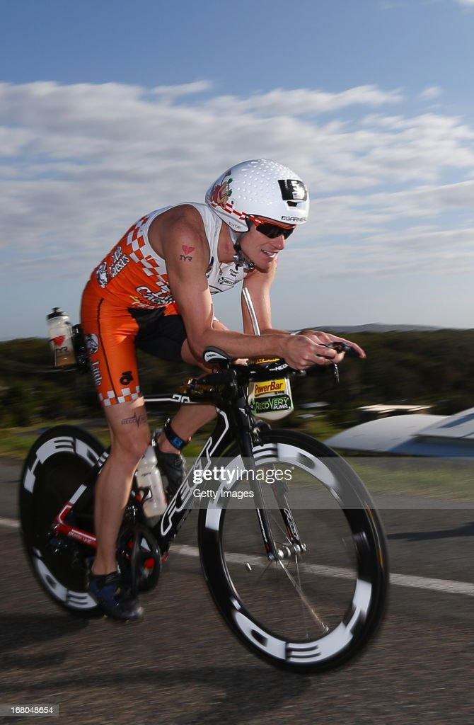 Patrick Evoe of United States of America competes in the Port Macquarie round of the 2013 Ironman Australia series on May 5, 2013 in Port Macquarie, Australia.