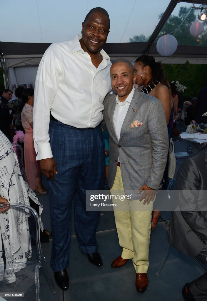 Patrick Ewing and Record Executive Kevin Liles attend the 2013 Peace Love A Cure Triple Negative Breast Cancer Foundation Benefit on May 21 2013 in...