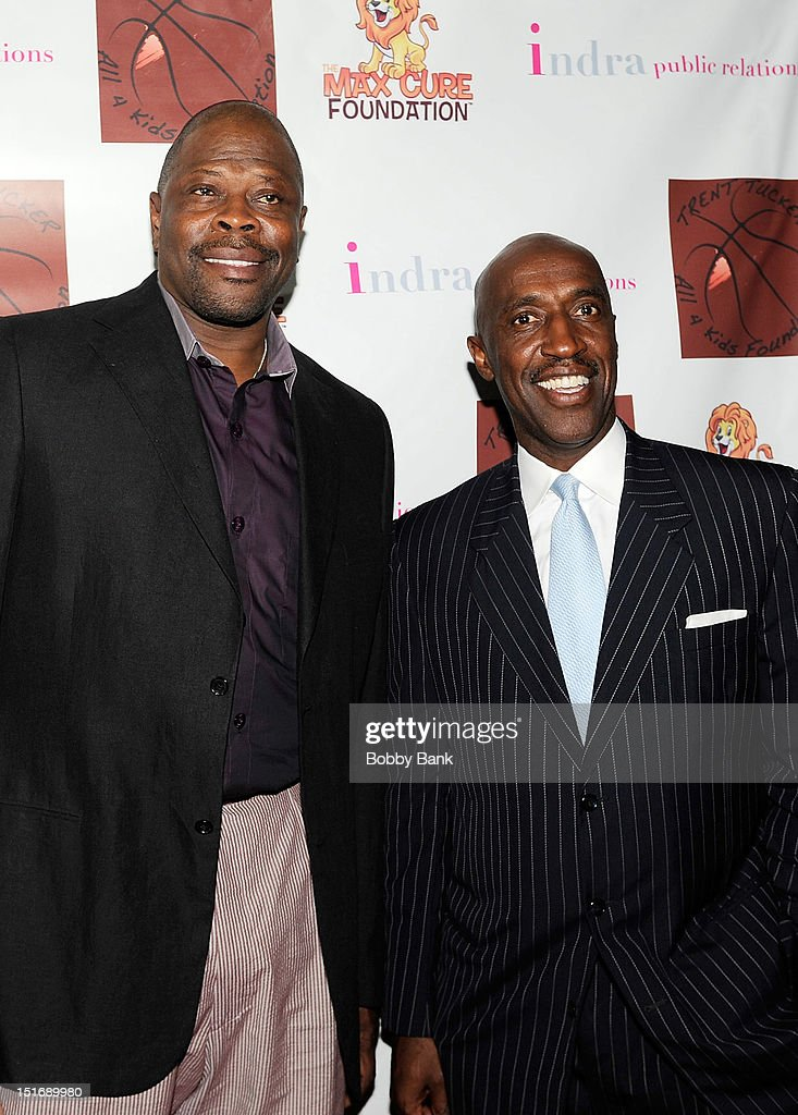 Patrick Ewing and Trent Tucker attend The Trent Tucker Celebrity Gala presented by the All 4 Kids Foundation and The Max Cure Foundation at STK on September 9, 2012 in New York, New York.