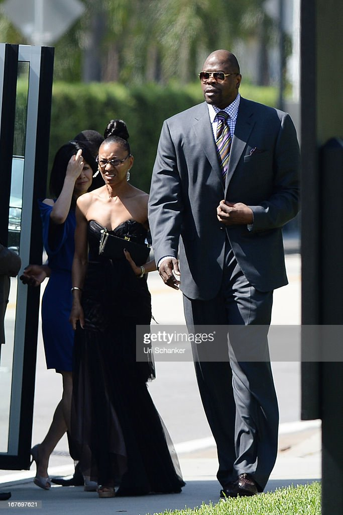 Patrick Ewing arrives at Michael Jordan and Yvette Prieto weddding Bethesda-by-the Sea church on April 27, 2013 in Palm Beach, Florida.