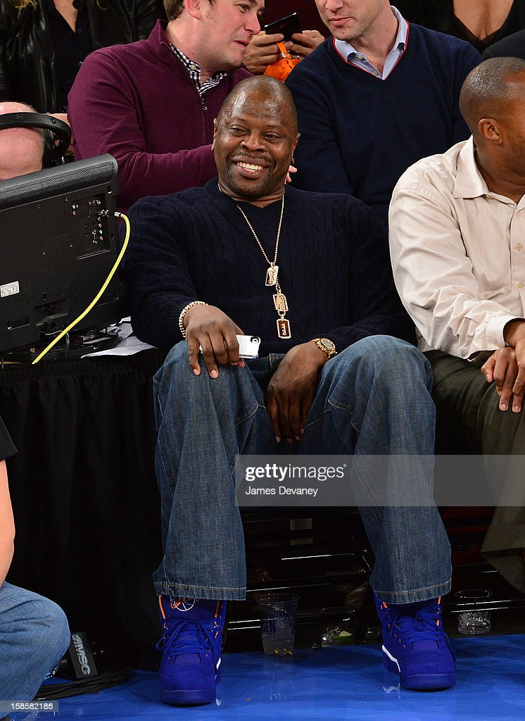 Patrick Ewing attends the Brooklyn Nets vs New York Knicks game at Madison Square Garden on December 19, 2012 in New York City.
