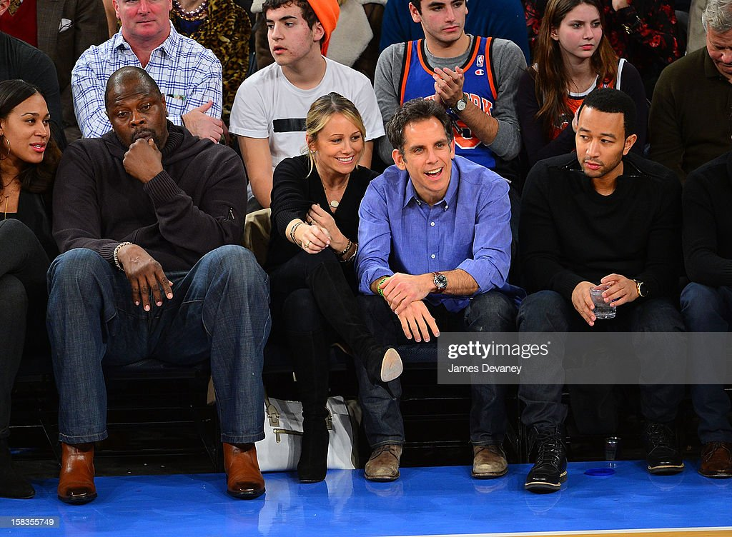 <a gi-track='captionPersonalityLinkClicked' href=/galleries/search?phrase=Patrick+Ewing&family=editorial&specificpeople=202881 ng-click='$event.stopPropagation()'>Patrick Ewing</a>, <a gi-track='captionPersonalityLinkClicked' href=/galleries/search?phrase=Christine+Taylor&family=editorial&specificpeople=201985 ng-click='$event.stopPropagation()'>Christine Taylor</a>, <a gi-track='captionPersonalityLinkClicked' href=/galleries/search?phrase=Ben+Stiller&family=editorial&specificpeople=201806 ng-click='$event.stopPropagation()'>Ben Stiller</a> and <a gi-track='captionPersonalityLinkClicked' href=/galleries/search?phrase=John+Legend&family=editorial&specificpeople=201468 ng-click='$event.stopPropagation()'>John Legend</a> attend the Los Angeles Lakers vs New York Knicks game at Madison Square Garden on December 13, 2012 in New York City.