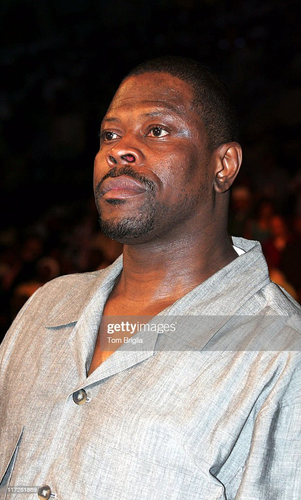 <a gi-track='captionPersonalityLinkClicked' href=/galleries/search?phrase=Patrick+Ewing&family=editorial&specificpeople=202881 ng-click='$event.stopPropagation()'>Patrick Ewing</a> during Boxing - IBO Light Heavyweight Championship - Antonio Tarver vs Bernard Hopkins - June 10, 2006 at Boardwalk Hall in Atlantic City, New Jersey, United States.