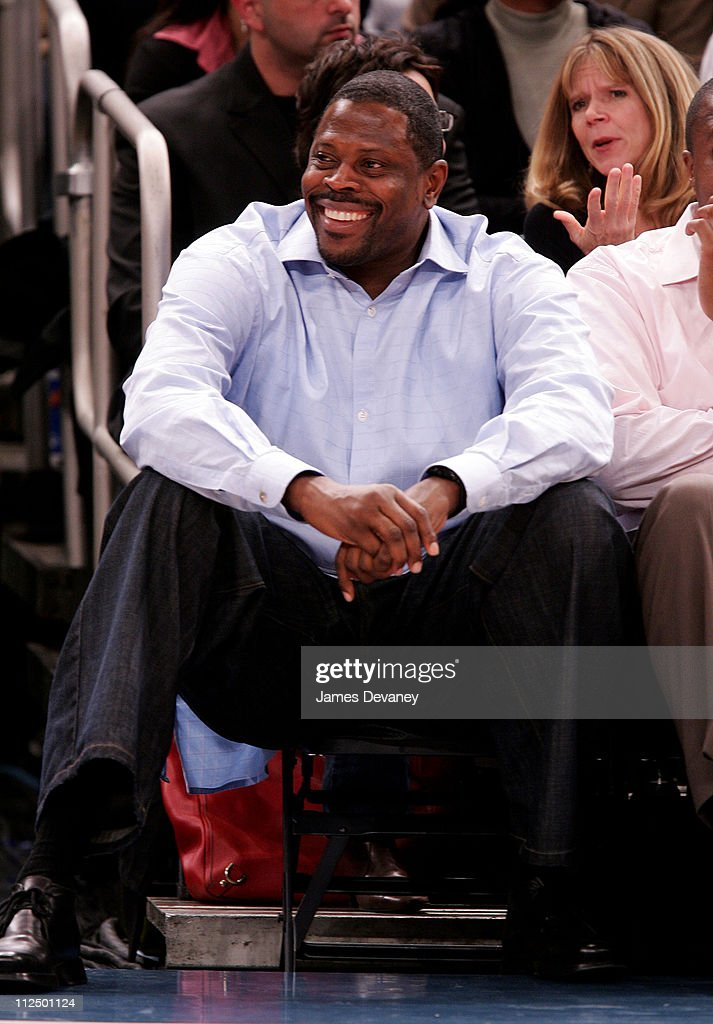 <a gi-track='captionPersonalityLinkClicked' href=/galleries/search?phrase=Patrick+Ewing&family=editorial&specificpeople=202881 ng-click='$event.stopPropagation()'>Patrick Ewing</a> during Celebrity Sighting at Houston Rockets vs. New York Knicks Game - November 20, 2006 at Madison Square Garden in New York City, New York, United States.