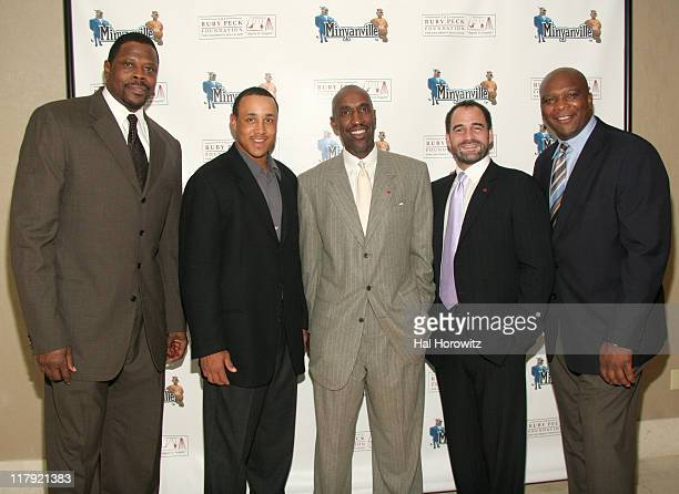 Patrick Ewing John Starks Trent Tucker Todd Harrison and Howard Cross