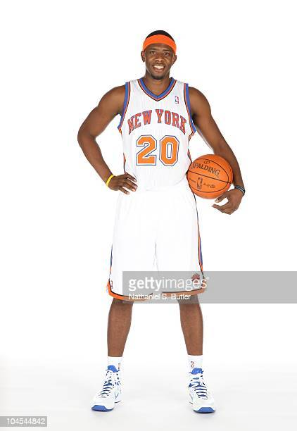 Patrick Ewing Jr #20 of the New York Knicks poses for a photo during Media Day on September 24 2010 at the New York Knicks Practice Facility in...