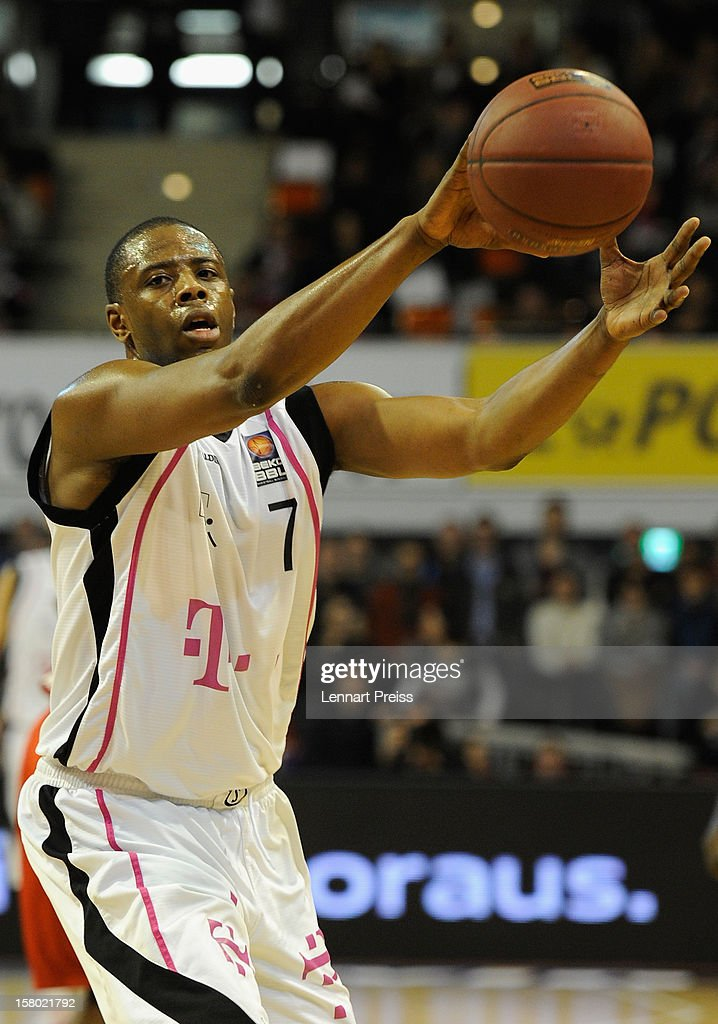 Patrick Ewing Jr. of Bonn in action during the Beko Basketball match between FC Bayern Muenchen and Telekom Baskets Bonn at Audi-Dome on December 9, 2012 in Munich, Germany.