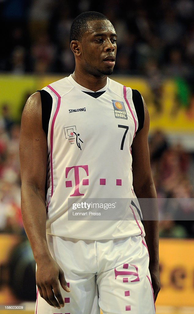 Patrick Ewing Jr. of Bonn looks on during the Beko Basketball match between FC Bayern Muenchen and Telekom Baskets Bonn at Audi-Dome on December 9, 2012 in Munich, Germany.