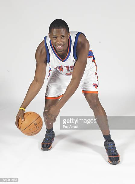 Patrick Ewing Jr of the New York Knicks poses during Knicks Media Day on September 29 2008 at the Madison Square Garden Training Center in Greenburgh...