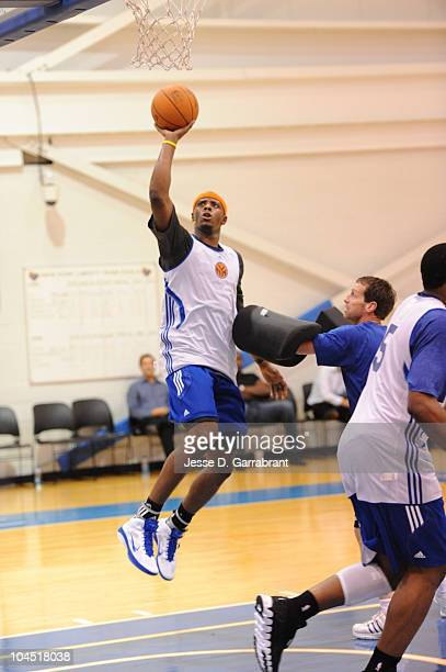 Patrick Ewing Jr of the New York Knicks shoots during practice on September 28 2010 at the MSG Training Facility in Tarrytown New York NOTE TO USER...