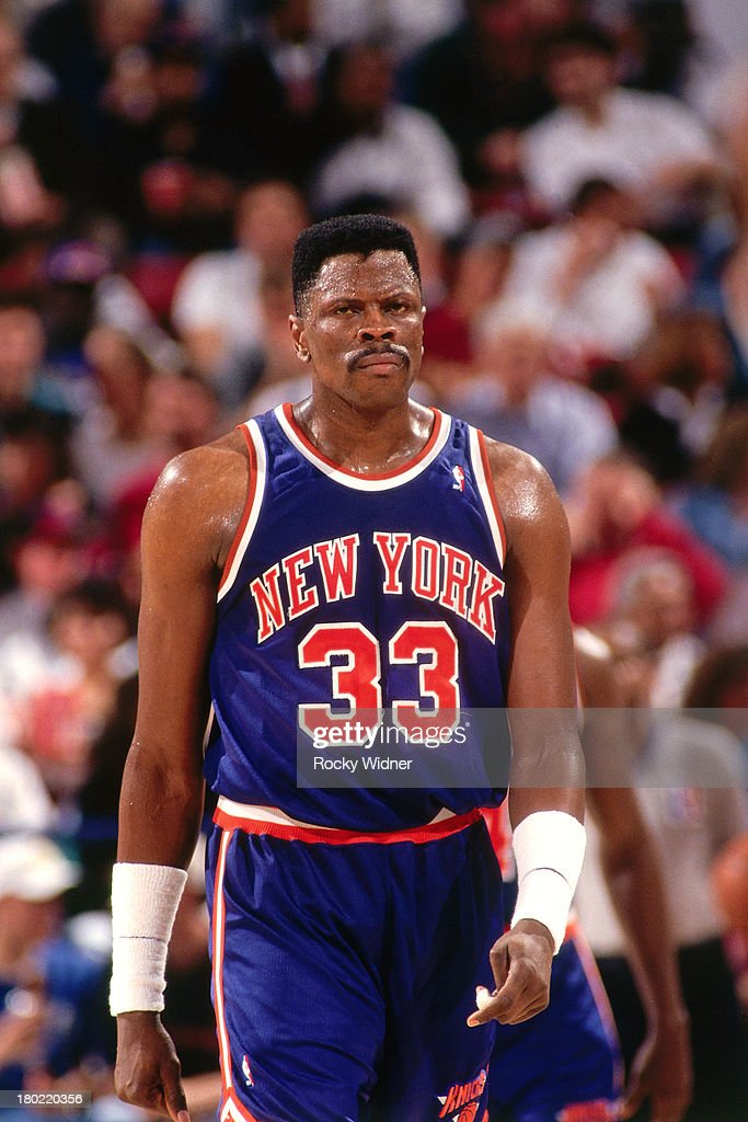 Patrick Ewing of the New York Knicks walks against the Sacramento Kings on March 1 1994 at Arco Arena in Sacramento California NOTE TO USER User...