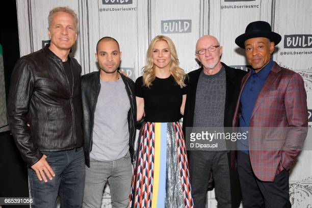 Patrick Fabian Michael Mando Rhea Seehorn Jonathan Banks and Giancarlo Esposito attend the Build Series to discuss 'Better Call Saul' at Build Studio...