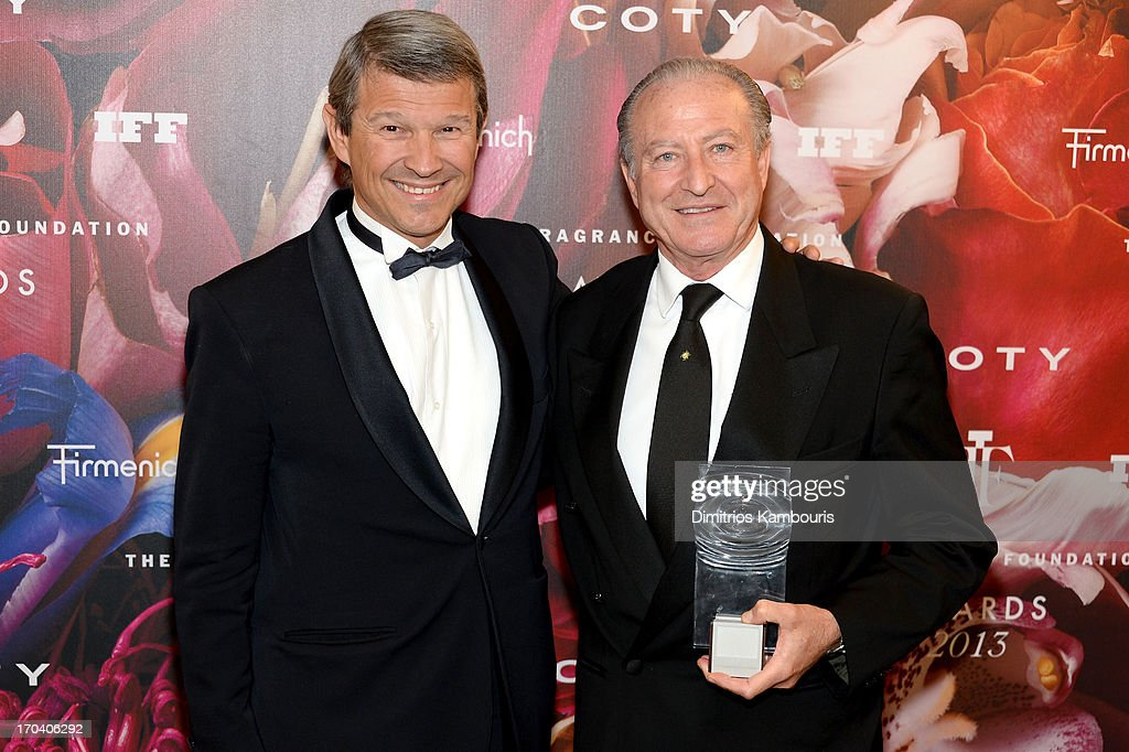 Patrick Firmenich (L) and Alberto Morillas attend the 2013 Fragrance Foundation Awards at Alice Tully Hall at Lincoln Center on June 12, 2013 in New York City.