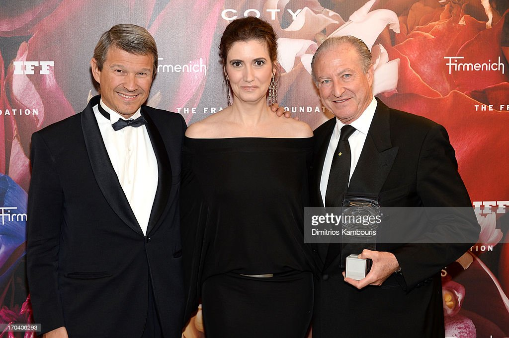 Patrick Firmenich, Elizabeth Musmanno, and Alberto Morillas attend the 2013 Fragrance Foundation Awards at Alice Tully Hall at Lincoln Center on June 12, 2013 in New York City.