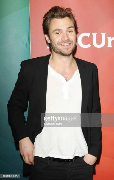 Patrick Fleuger arrives at the NBC/Universal 2014 TCA Winter press tour held at The Langham Huntington Hotel and Spa on January 19 2014 in Pasadena...