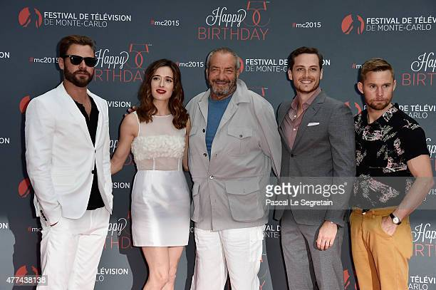 Patrick Flueger Marina Squercati Dick Wolf Jesse Lee Soffer and Brian Geraghty attend the 55th Monte Carlo Beach anniversary as part of the 55th...