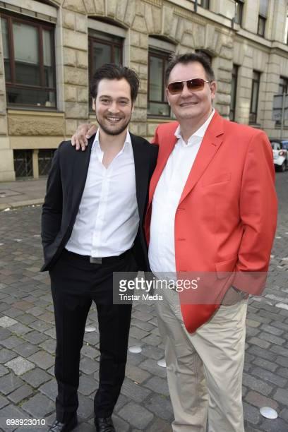 Patrick G Boll and Soeren Bauer attend the Studio Hamburg Nachwuchspreis 2017 at Thalia Theater on June 20 2017 in Hamburg Germany