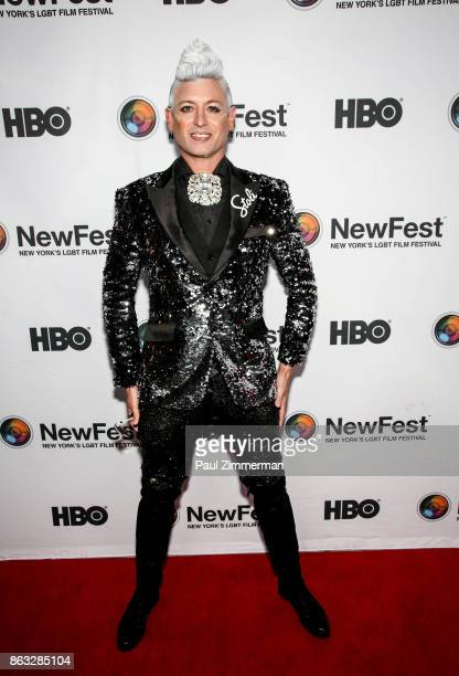 Patrick Gallineaux attends NewFest 2017 Opening Night Susanne Bartsch On Top at SVA Theater on October 19 2017 in New York City