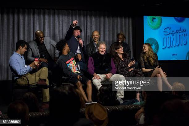 Patrick Gomez of People and Actors Darien SillsEvans David Koechner Maz Jobrani Rell Battle Jermaine Fowler Judd Hirsch Katey Sagal and Anna...