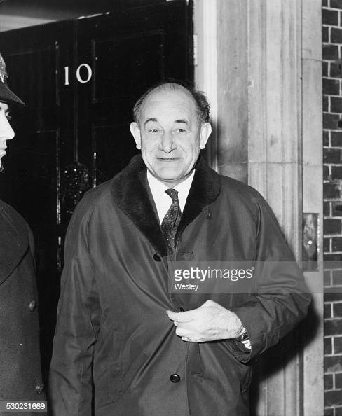 Patrick Gordon Walker Labour Party politician and former Foreign Secretary leaving 10 Downing Street after a meeting with Harold Wilson London...