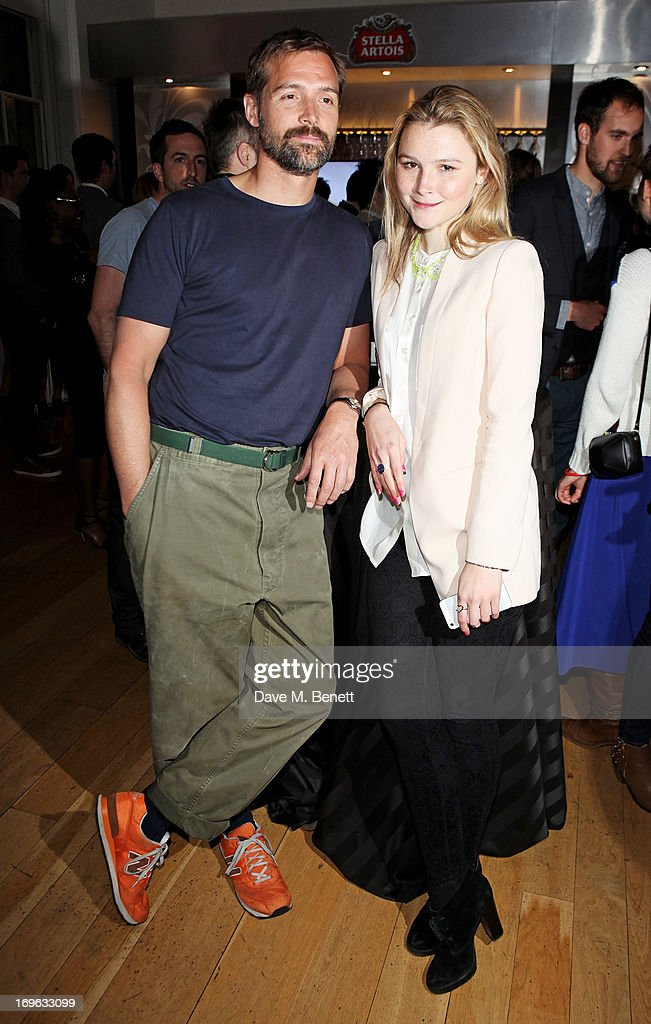 Patrick Grant (L) and Amber Atherton attend the Esquire Summer Party in association with Stella Artois at Somerset House on May 29, 2013 in London, England.