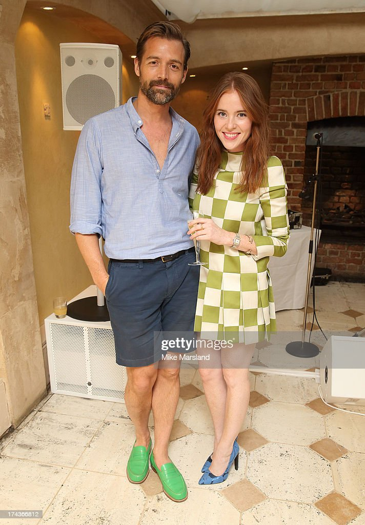 Patrick Grant and Angela Scanlon attend Daphne's evening of dinner & dancing at Daphne's on July 24, 2013 in London, England.