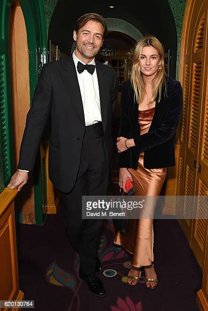 Patrick Grant and Camille Charriere attend a private dinner hosted by Annabel's celebrating the 125th anniversary of The Dog's Trust on November 1...