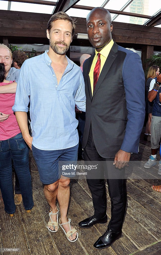 Patrick Grant and Ozwald Boetang attends Warner music group summer party in association with Esquire at Shoreditch House on July 18, 2013 in London, England.