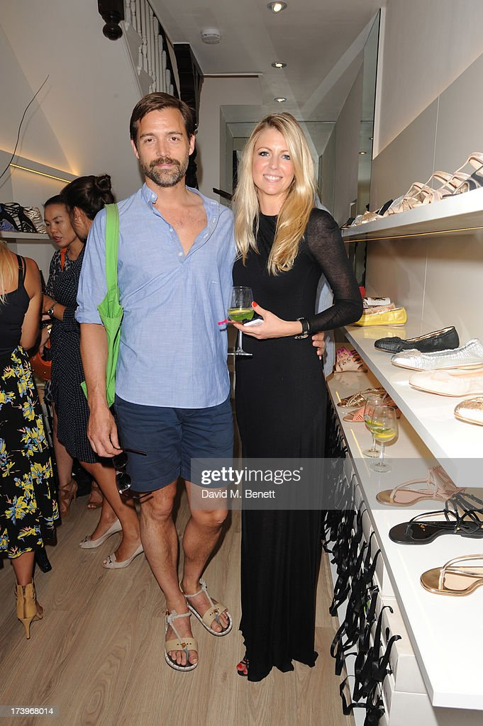 Patrick Grant and Stephanie Mueller Knab and guests attends Swiss luxury shoe brand Lele Pyp VIP London store launch party on July 18, 2013 in London, England.