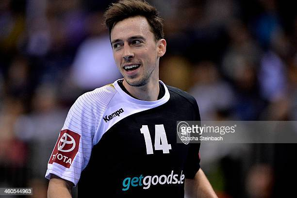 Patrick Groetzki of Germany looks on during the DHB Four Nations Tournament match between Germany and Russia at KoenigPALAST on January 4 2014 in...
