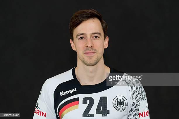 Patrick Groetzki of Germany poses during the handball national team of Germany presentation prior to the Handball World Championship in France on...