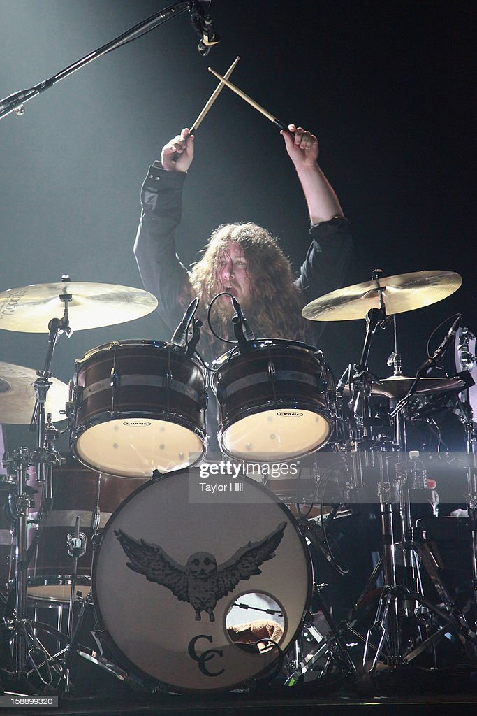 Patrick Hallahan of My Morning Jacket performs during On the Beach: A Sandy Relief Concert at Paramount Theater on January 2, 2013 in Asbury Park, New Jersey.