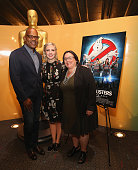 Patrick Harrison Director of New York Programs Academy Of Motion Picture Arts screenwriter Katie Dippold and Melissa Silverstein attend The Academy...