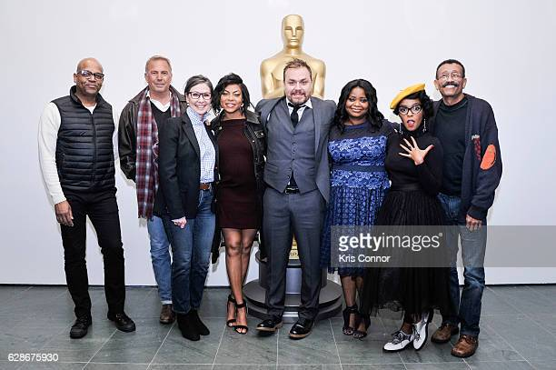Patrick Harrison Kevin Costner Donna Gigliotti Taraji P Henson Ted Melfi Octavia Spencer Janelle Monae and Wynn Thomas attend an official academy...