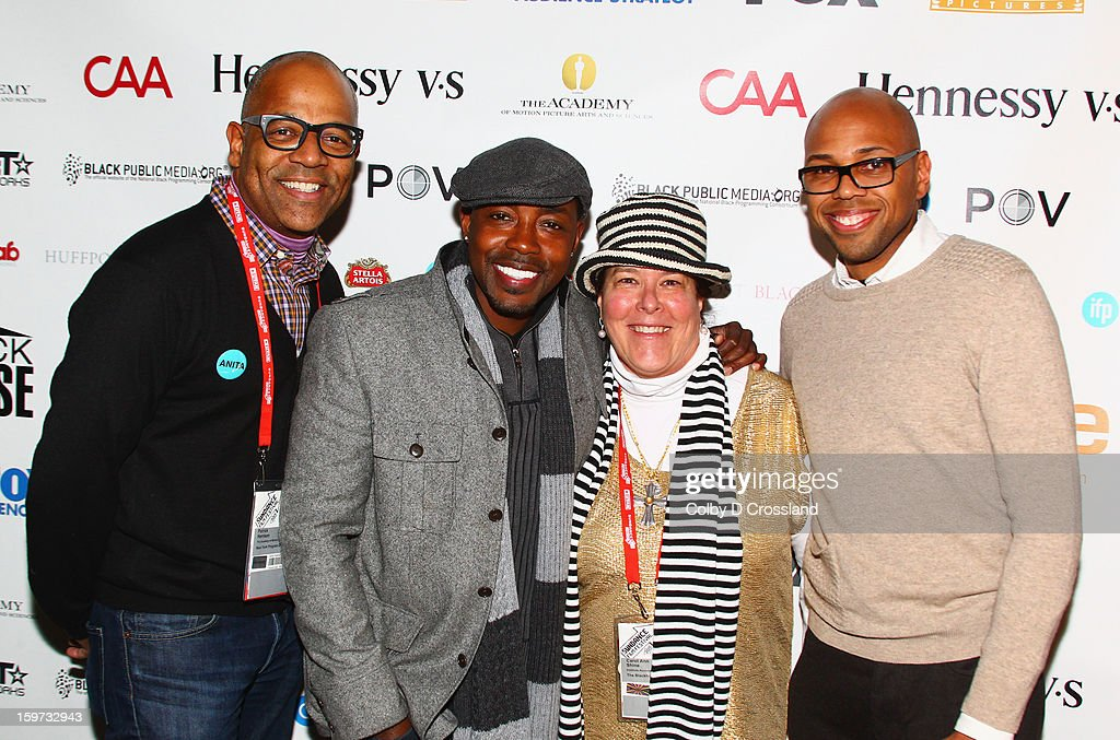 Patrick Harrison, Will Packer, Carol Ann Shine and Brickson Diamond attend The Academy And Blackhouse Partner on Talk with Filmmaker Will Packer At Sundance at Buona Vita during the 2013 Sundance Film Festival on January 19, 2013 in Park City, Utah.