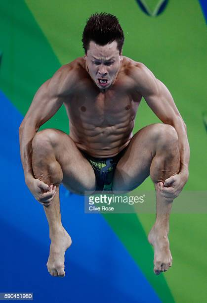 Patrick Hausding of Germany competes in the Men's Diving 3m Springboard final at the Maria Lenk Aquatics Centre on August 16 2016 in Rio de Janeiro...