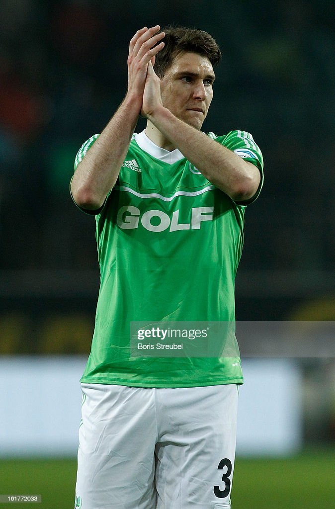 Patrick Helmes of Wolfsburg gestures after losing the Bundesliga match between VFL Wolf sburg and FC Bayern Muenchen at Volkswagen Arena on February 15, 2013 in Wolfsburg, Germany.