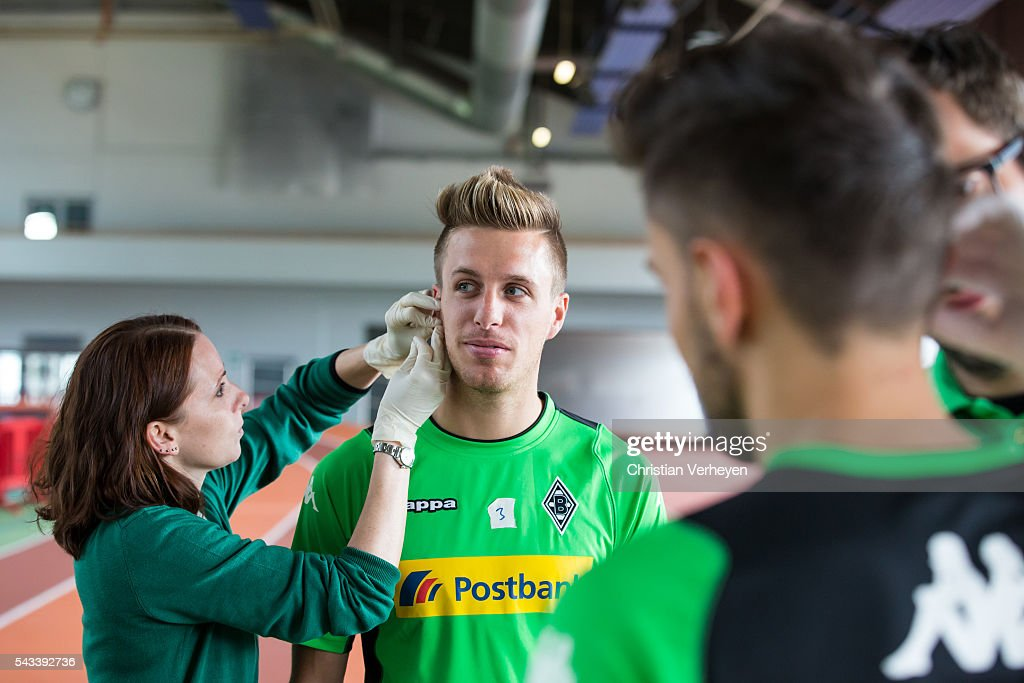 Patrick Herrmann of Borussia Moenchengladbach during a Lactate Test in Duesseldorf on June 28, 2016 in Moenchengladbach, Germany.