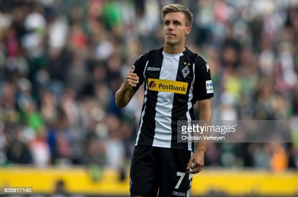Patrick Herrmann of Borussia Moenchengladbach during of the Bundesliga match between Borussia Moenchengladbach and 1 FC Koeln at BorussiaPark on...