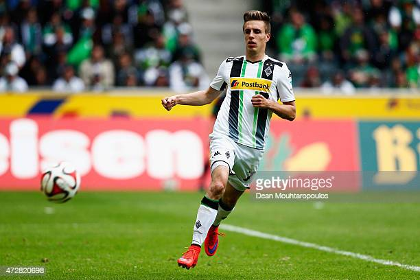 Patrick Herrmann of Borussia Moenchengladbach in action during the Bundesliga match between Borussia Moenchengladbach and Bayer 04 Leverkusen held at...